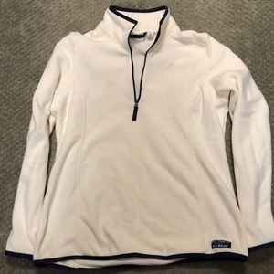 Llbean fleece pullover quarter zip